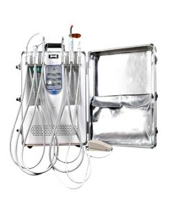 Hot Mobile Portable Dental Chair Unit with Mini Air Compressor pictures & photos