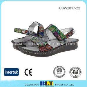 Colorful Upper Magic Button Rubber Outsole Clog Women Shoes pictures & photos