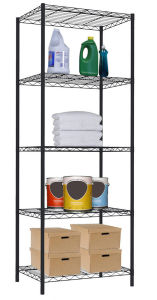 Black Epoxy Coated 5-Tier Home DIY Wire Shelving Storage Unit pictures & photos