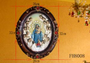 Christmas Decorative Polyresin Wall Plaque pictures & photos