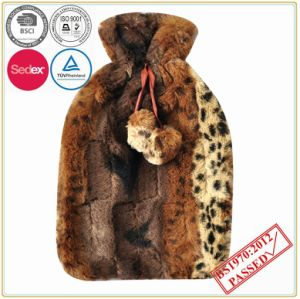 Hight Quality Hot Water Bottle with Tiger Design Plush Cover pictures & photos