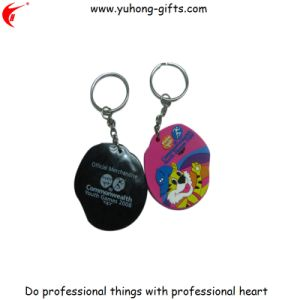 Embossed Logo Soft PVC Key Chain, Back Logo Printed (YH-KC061) pictures & photos