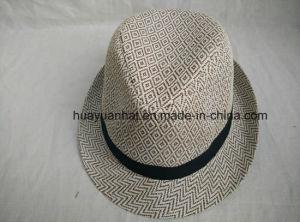 100%Paper with Diamond-Type Lattice Fedora Hats pictures & photos