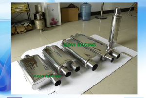 Dual 2.5′′/Center 3′′ Mirror Car Truck Mufflers Exhaust Muffler 4′′x9′′x22′′x28′′ pictures & photos