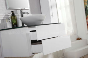 Morden MDF White Bathroom Cabinet with Side Vanity pictures & photos