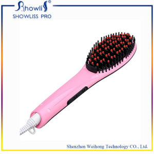 Private Label Flat Iron Hot Hair Brush Hair Straightener pictures & photos