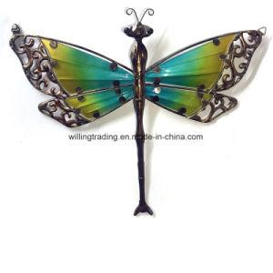 New Antique Metal Dragonfly W. Glass Wall Art Garden Decoration
