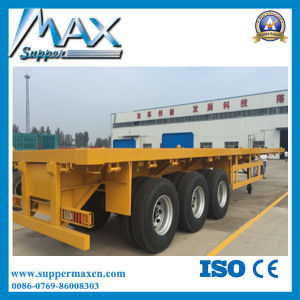 45 Tons Loading Capacity 40FT Container Flatbed Trailer pictures & photos