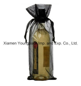 Fashion Promotional Custom Organza Wine Bottle Gift Bag pictures & photos