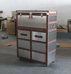 Antique Brushed Stainless Steel Wine Cabinet, Bar Cabinet pictures & photos