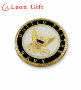 High Quality Custom Us Military Navy Gold Metal Coins pictures & photos