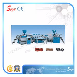 Xz0085 Automatic Disc Type Double Color Plastic Sole Injection Moulding Machine with 20 Stations pictures & photos