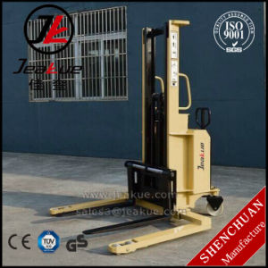 Straddle Semi-Electric Stacker with 1t pictures & photos