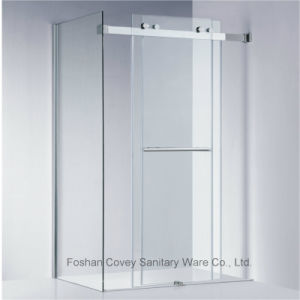 Frameless Sliding Shower Enclosure with Stainless Steel Hardware for American Market (KW021)