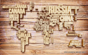 The Classicial World Map Ddesign UV Printed on Wall Panel for Living Room Decoration pictures & photos