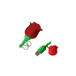Creative Gifts Colorful Roses USB Rubber USB Flash Drive Custom Fashion USB 256GB pictures & photos
