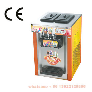 Color Painting Tabletop Hot Sale Low Cost 3 Flavors Soft Ice Cream Machine with Ce pictures & photos