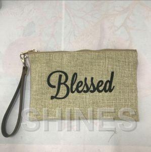 Gold Women Fashion Linen Handbag