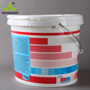 15L Paint Plastic Oval Bucket with Lid and Metal Handle pictures & photos