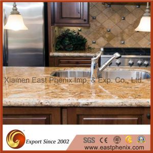 Hot Sale Yellow Granite for Prefab Finished Kitchen Countertop pictures & photos