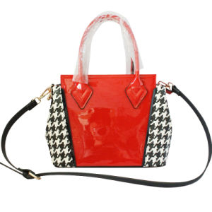 Faux Leather PU Fashion Ladies Felt Tote Bag (XD140489)
