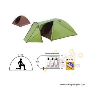 3 Men Double Layers With Individual Camping Tent (SCC-902) pictures & photos