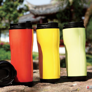 Double Walls Plastic Water Travel Cup pictures & photos