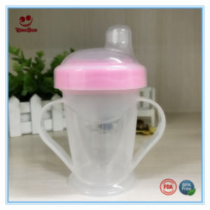 Portable Plastic Baby Drinking Mug with Soft Soother 180ml pictures & photos
