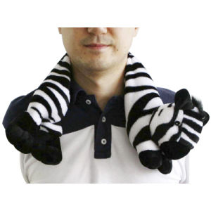 Hot Cold Ice Gel Pack for Pain Relief Beneficial to Human Body Health Animal Zebra Neck Pillow (P20094)