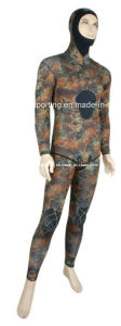 Camo Style Neoprene Spearfishing Wetsuit (HXL0001) pictures & photos