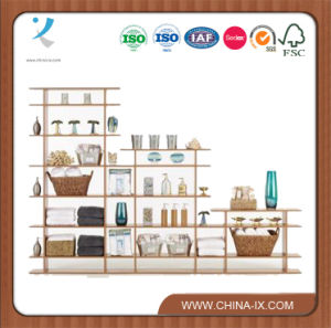 Customized 9′ Wide 3-Tier Display Shelf with Space Divider pictures & photos