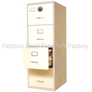Fire Proof Steel Filing Cabinet Office Furniture with One Combination Lock on The Top Drawer /Metal Cabinet pictures & photos