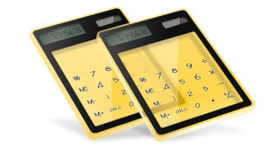 Transparent Touchscreen Calculator (HJ-1008A)