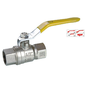 Brass Ball Valve (BV-1016) F/F with Steel Handle