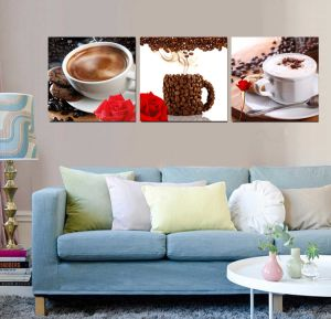 3 Piece Modern Wall Art Printed Painting Coffee Painting Room Decor Framed Art Picture Painted on Canvas Home Decoration Mc-248 pictures & photos