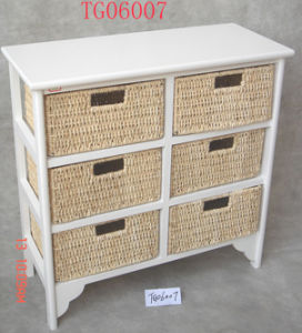 Wooden Cabinet with 6 Drawers (TG06007)
