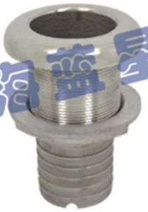 """Stainless Steel Thru-Hull Drain with Hose 1"""" 1-1/4"""" (THO-19)"""