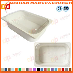 Portable Plastic Food Display Box Storage Container with Cover (Zhtb18) pictures & photos