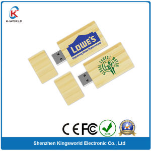 Free Logo Simple Wood 8GB USB Flash Drive pictures & photos