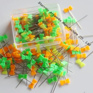 Bright Candy Colors 40mm Plastic Bowknot Sewing Pins in Box Packing pictures & photos