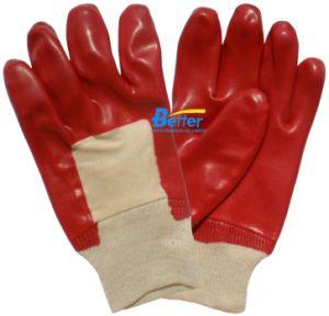 Cotton Interlock Lining PVC Dipped Work Gloves (BGPC101)