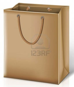 High Quality Golden Colour Promotional Paper Bags (YY--B0043) pictures & photos