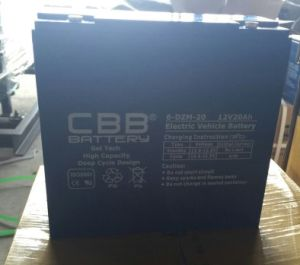Factory Price Motive Deep Cycle Electric Bike Battery 6-Dzm-20 pictures & photos