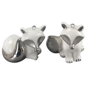 Animal Shaped Ceramic Craft, Electroplate Ceramic Fox pictures & photos
