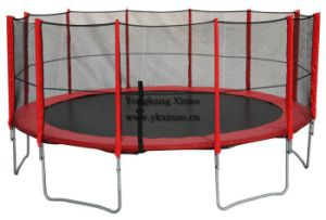 16ft Outside Round Trampolines with Enclosures