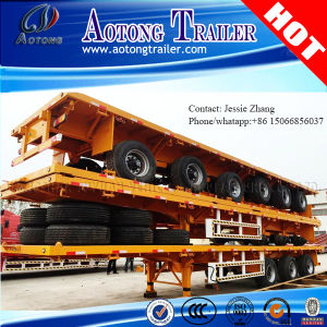 Tri-Axle 40FT Container Flatbed Semi Trailer pictures & photos