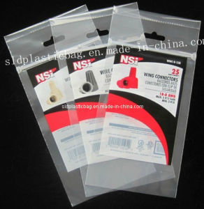 PE Header Bag with Ziplock and Hang Hole for Wine Connectors Packaging pictures & photos