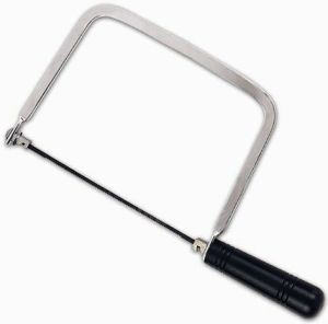 Carbon Steel Bow Saw Coping Saw Hacksaw with 3PCS Spare Blades for Woodworking pictures & photos