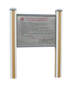 Park Fitness Equipment Instruction Board (JMT-10) pictures & photos