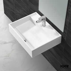 Sanitaryware Hotel Project Modern White Solid Surface Wash Basin pictures & photos